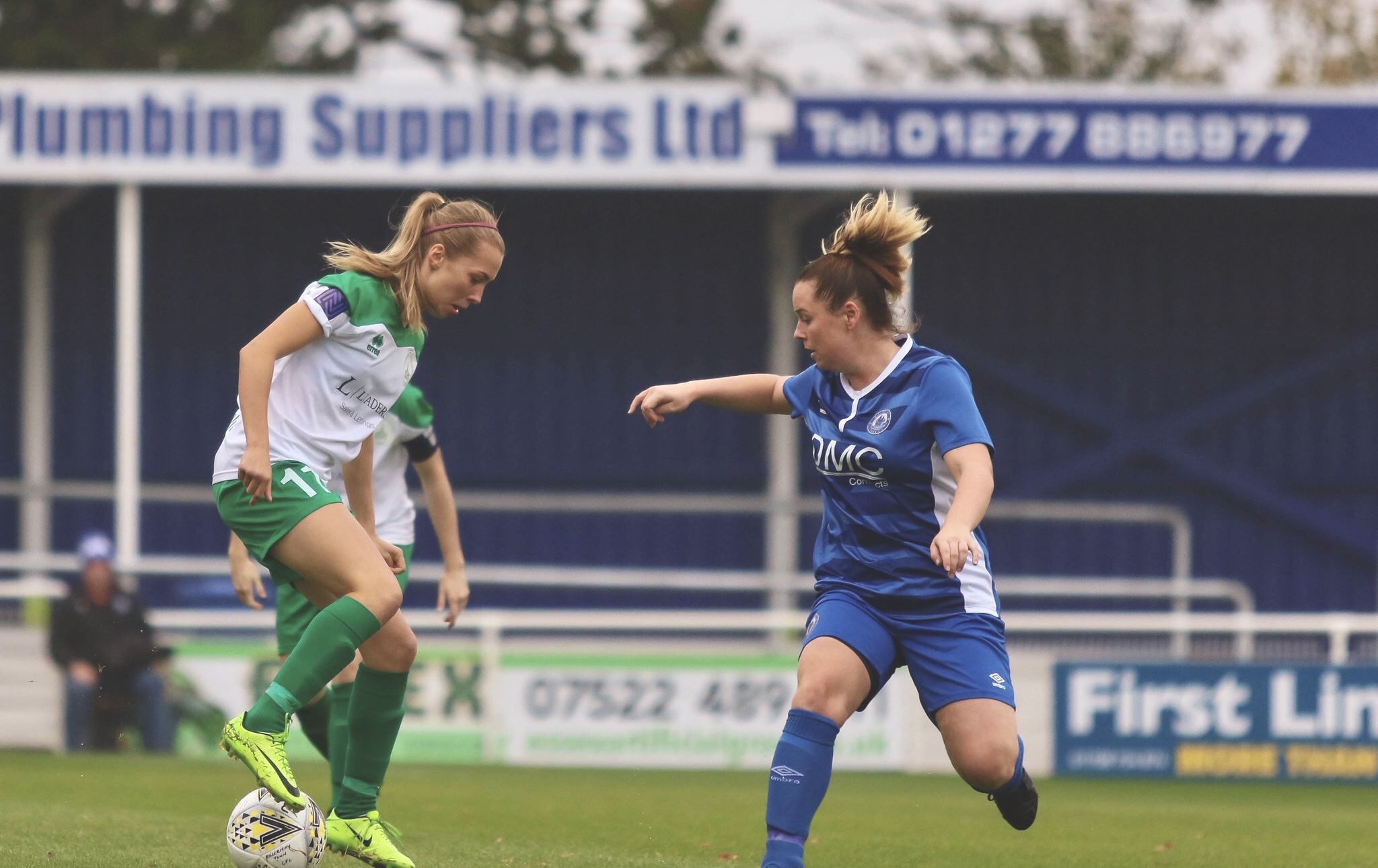 Tash Stephens at Billericay Ladies 0-2 Chichester City Ladies. Photo by Sheena Booker