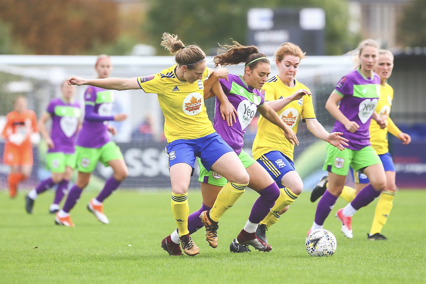Ellie Rutherford and Aoife Mannion for Bristol City Women against Birmingham City Women