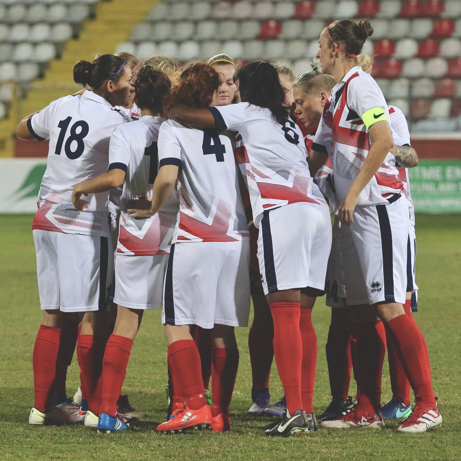 Great Britain's Deaf Women's football team