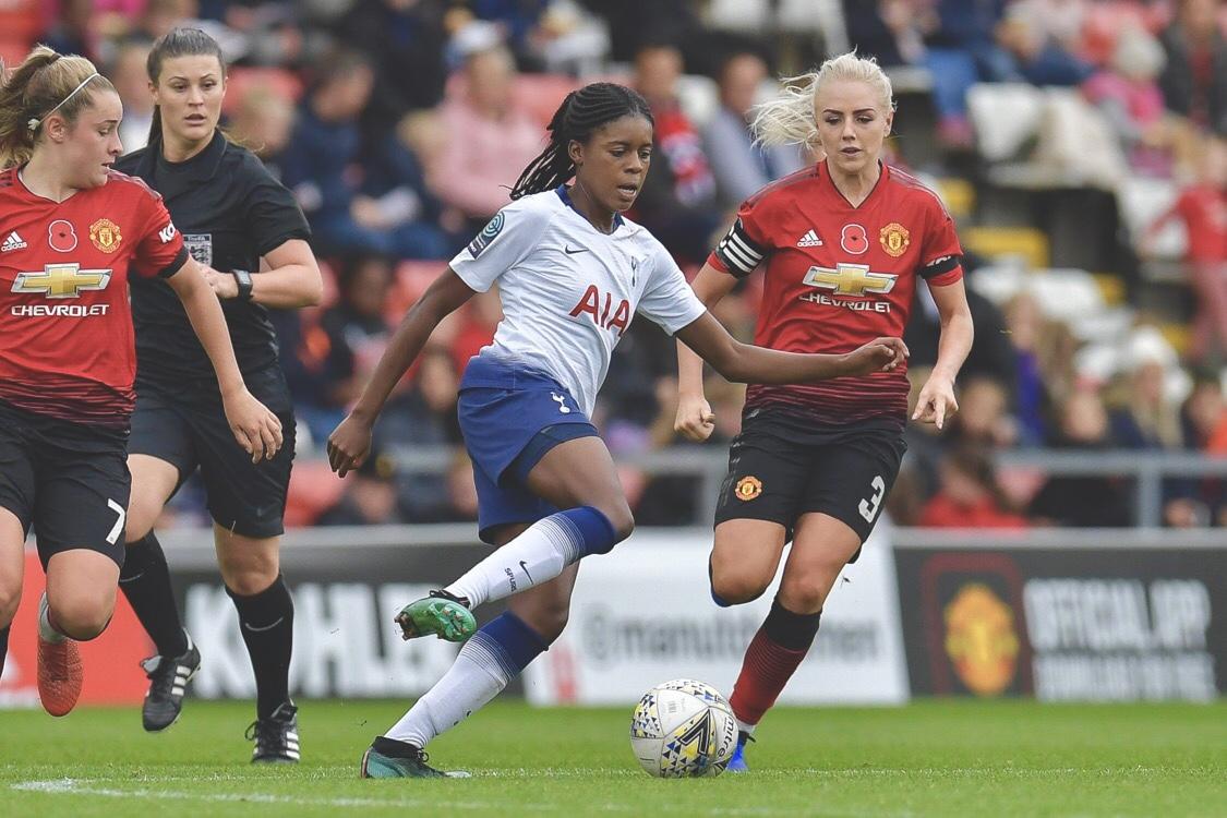 Man United Women v Tottenham Hotspur Ladies. Photo @ManUtdWomen