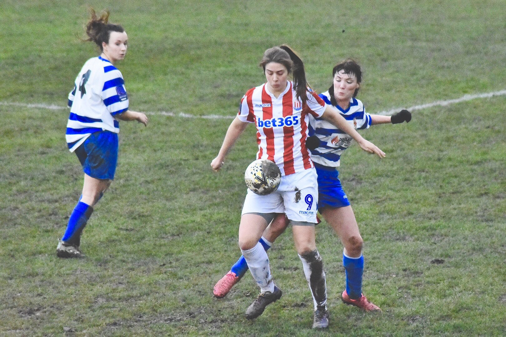 Amy Hughes for Stoke City Ladies against Chester-Le-Street in the SSE FA Cup.