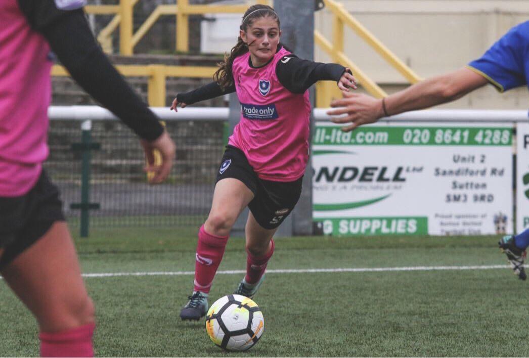 Lauren Peck in her Portsmouth FC Women's days.