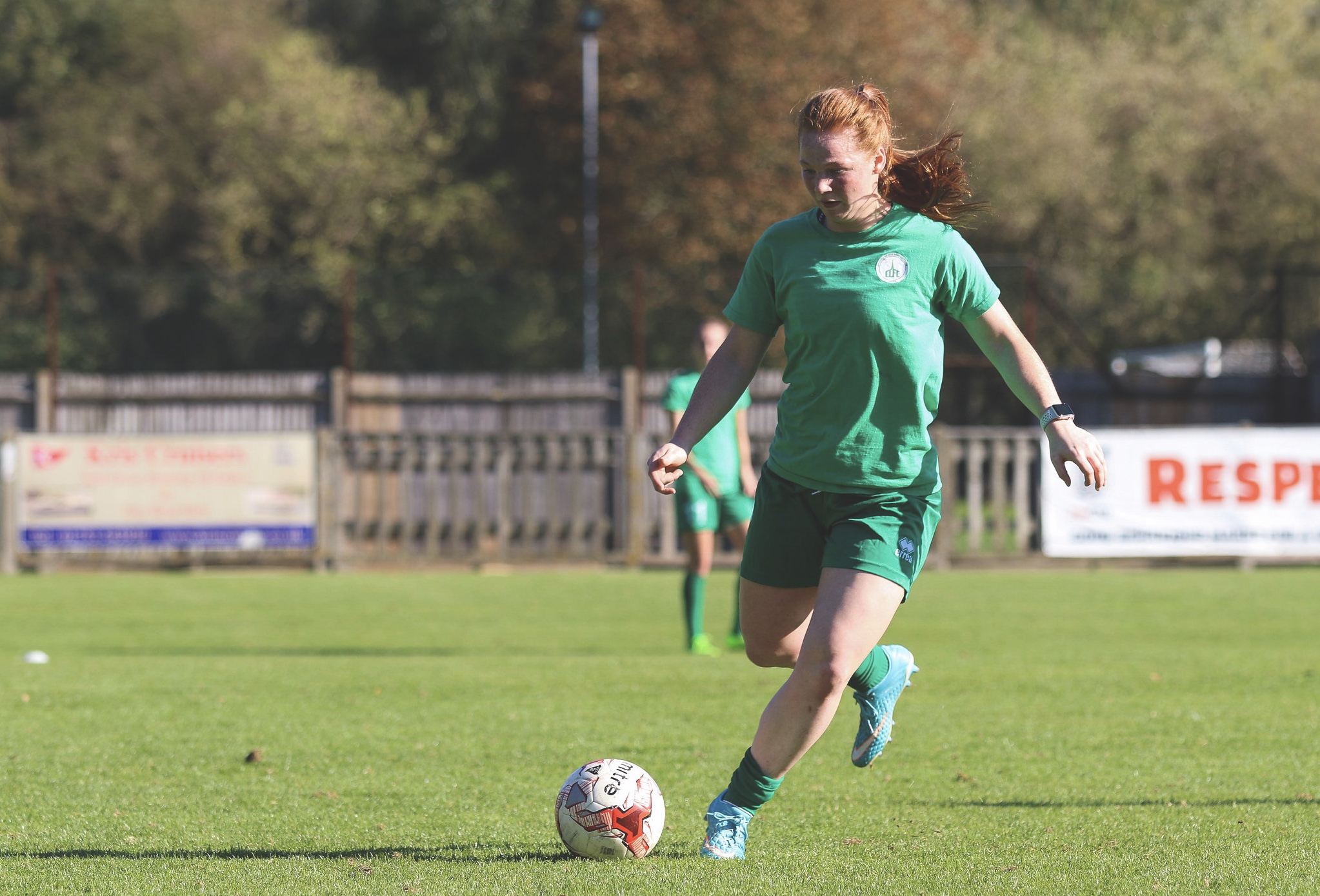 Jade Widdows in action for Chichester City. Taken by Sheena Booker.