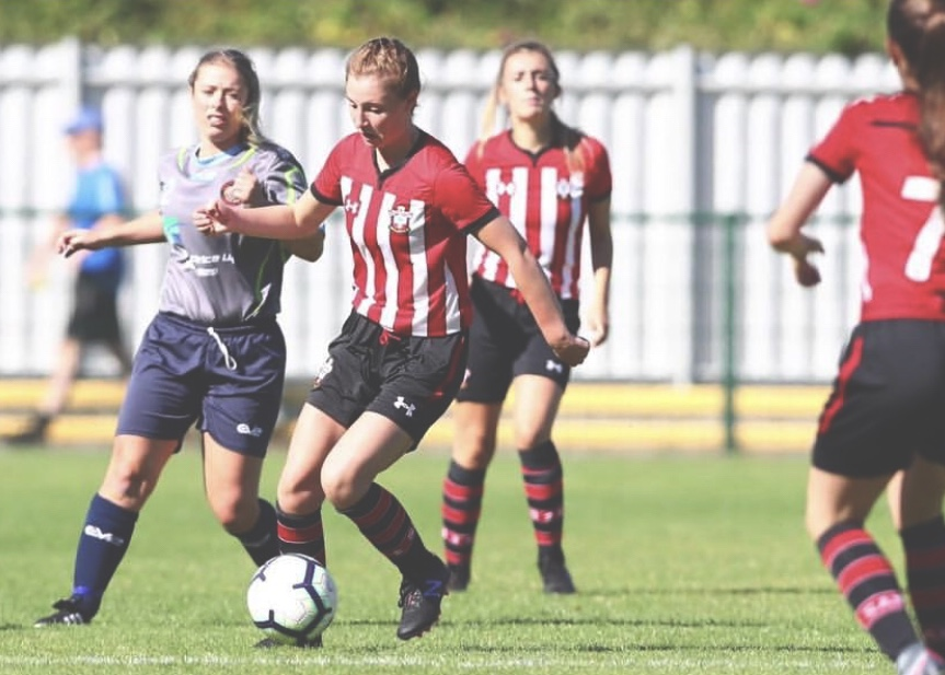 Caitlin Collighan in action for Southampton