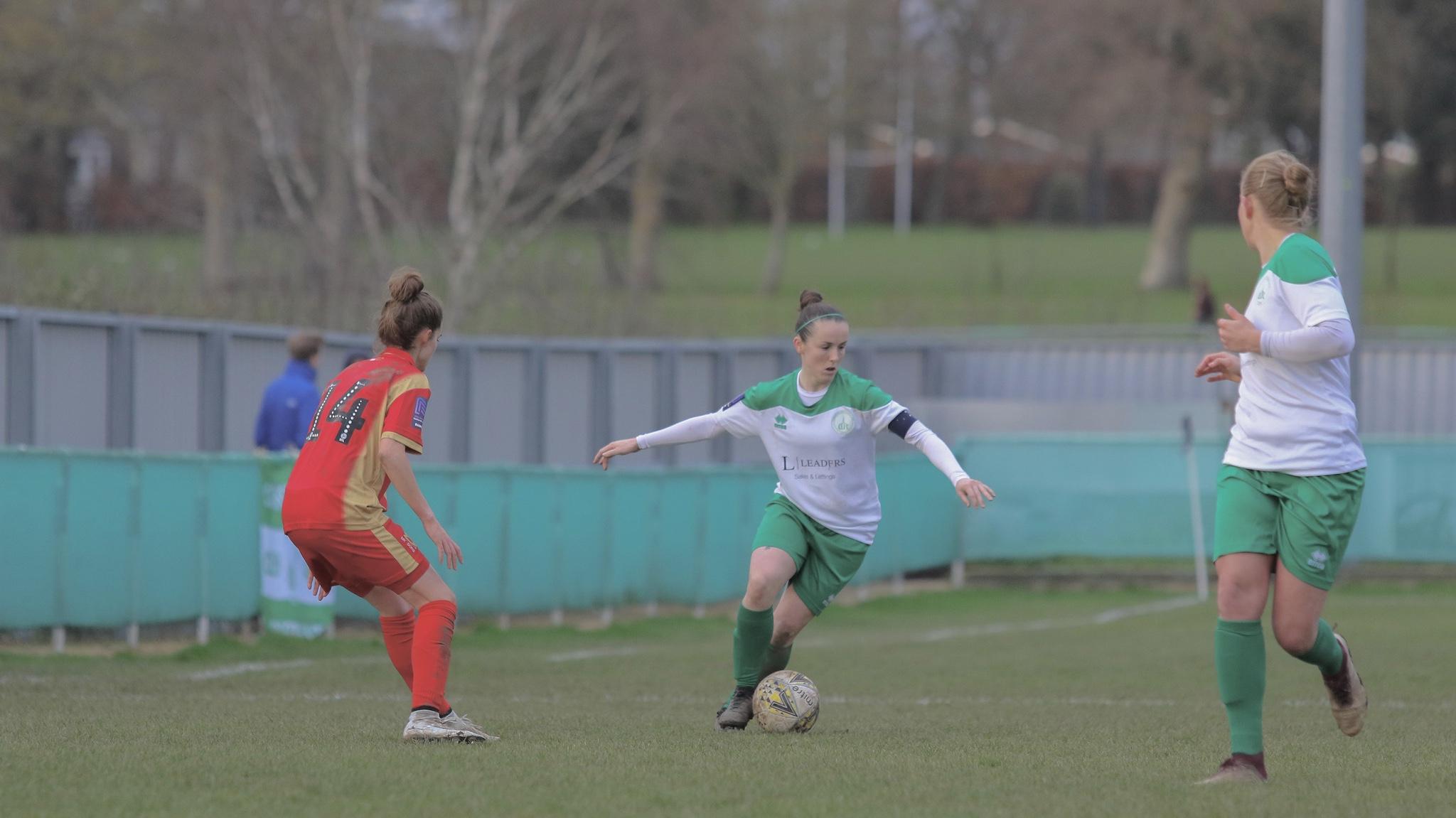 Lauren Cheshire during Chichester City versus MK Dons. Photo: Sheena Booker