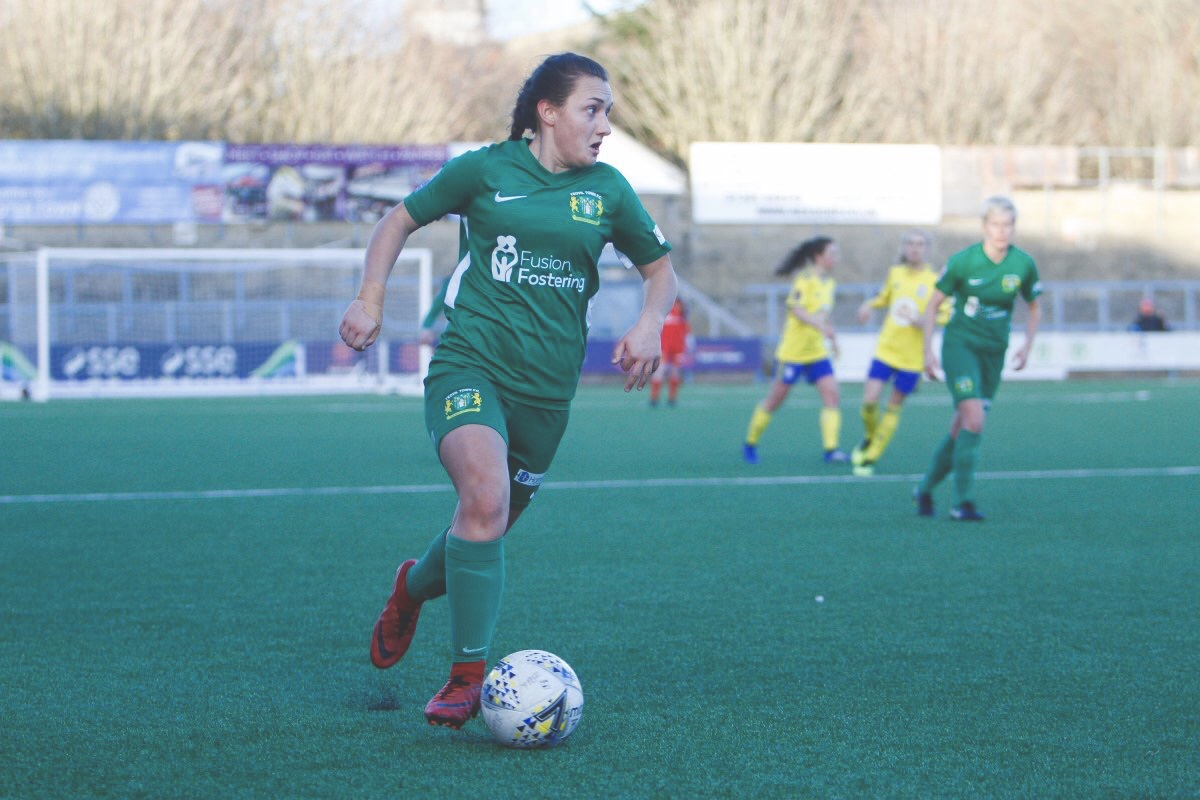 Charlotte Buxton in action for Yeovil Town