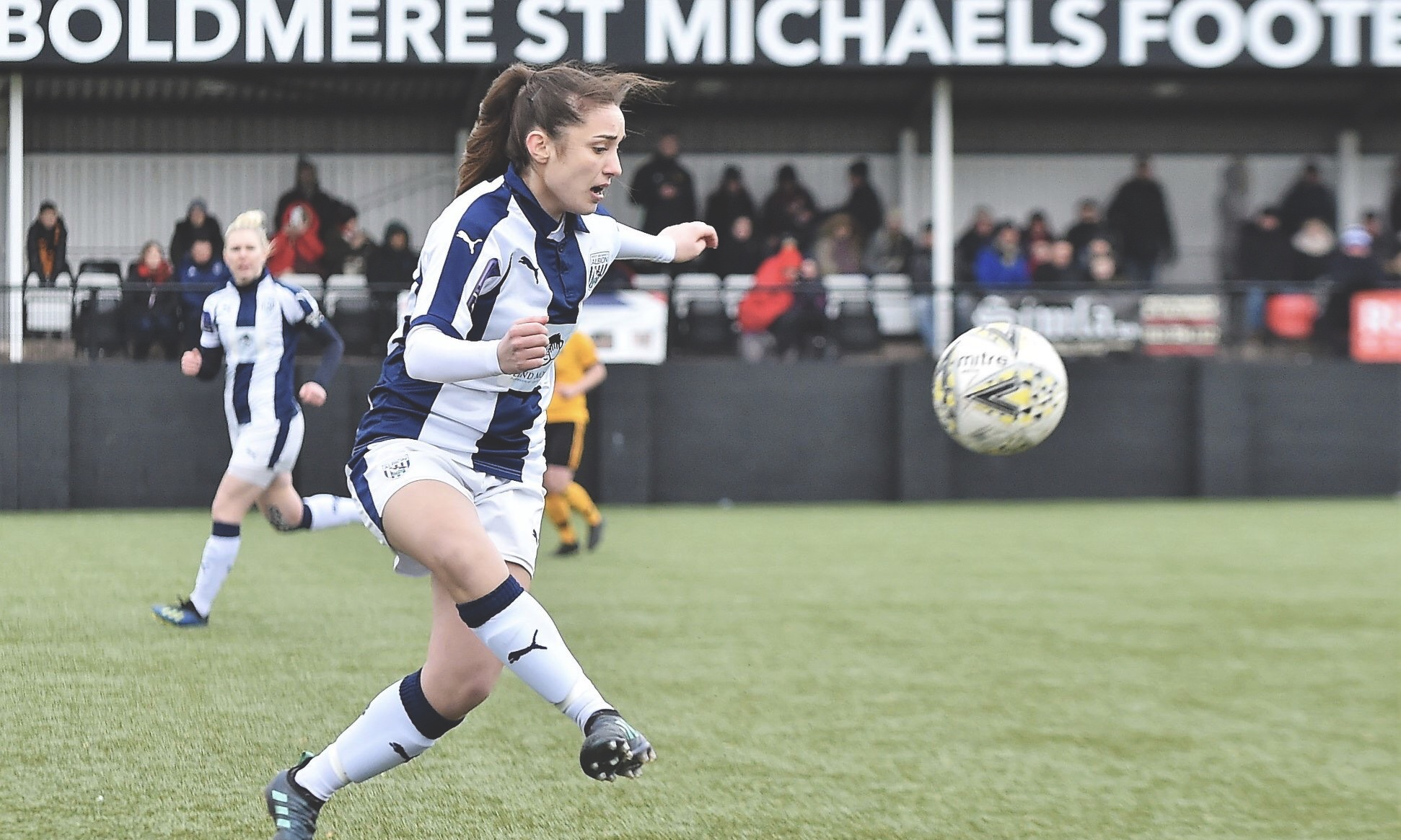 Fran Orthodoxou in action for West Bromwich Albion Women