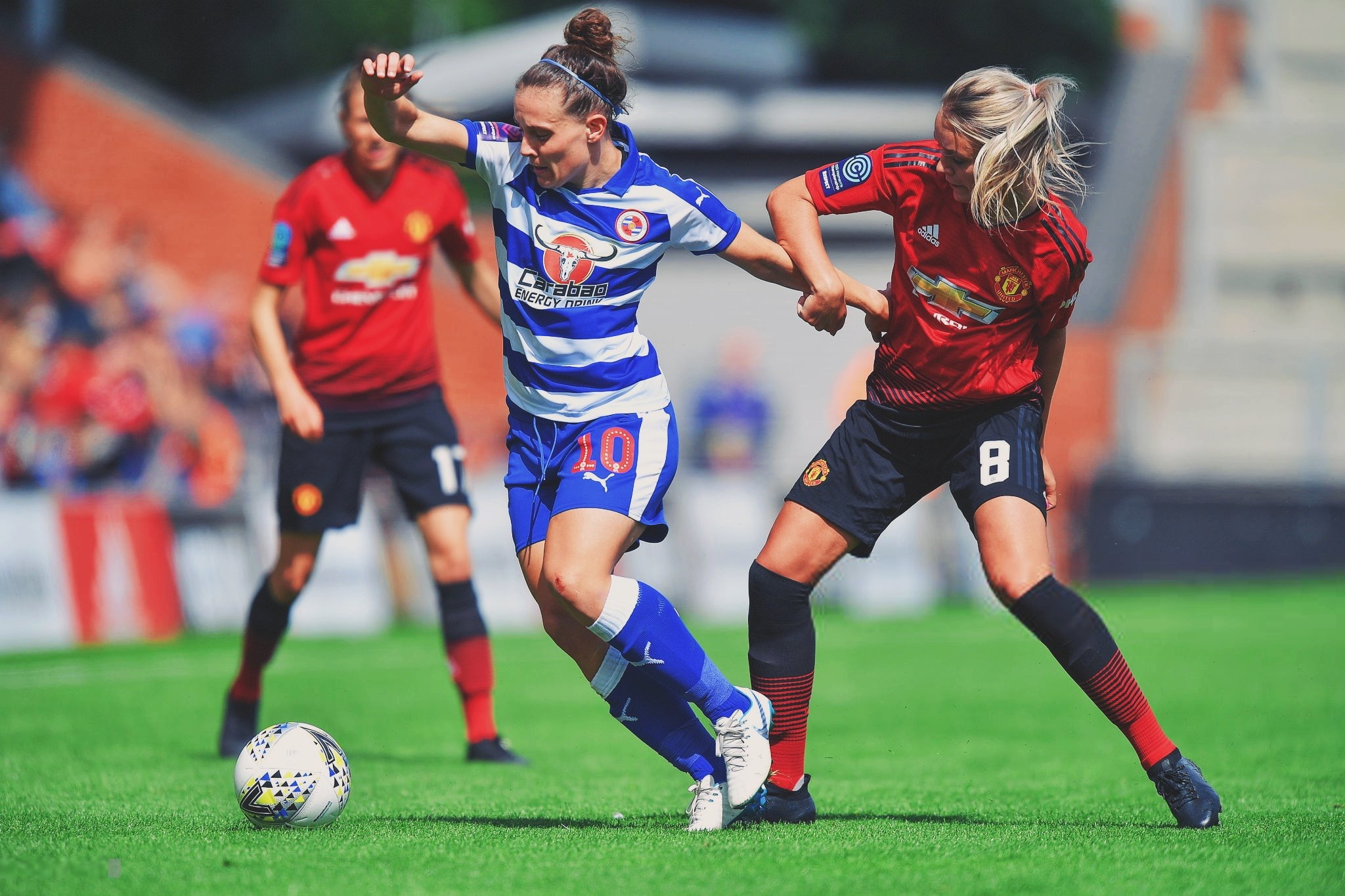 Reading Women taking on Manchester United Women in the Conti Cup back in August.