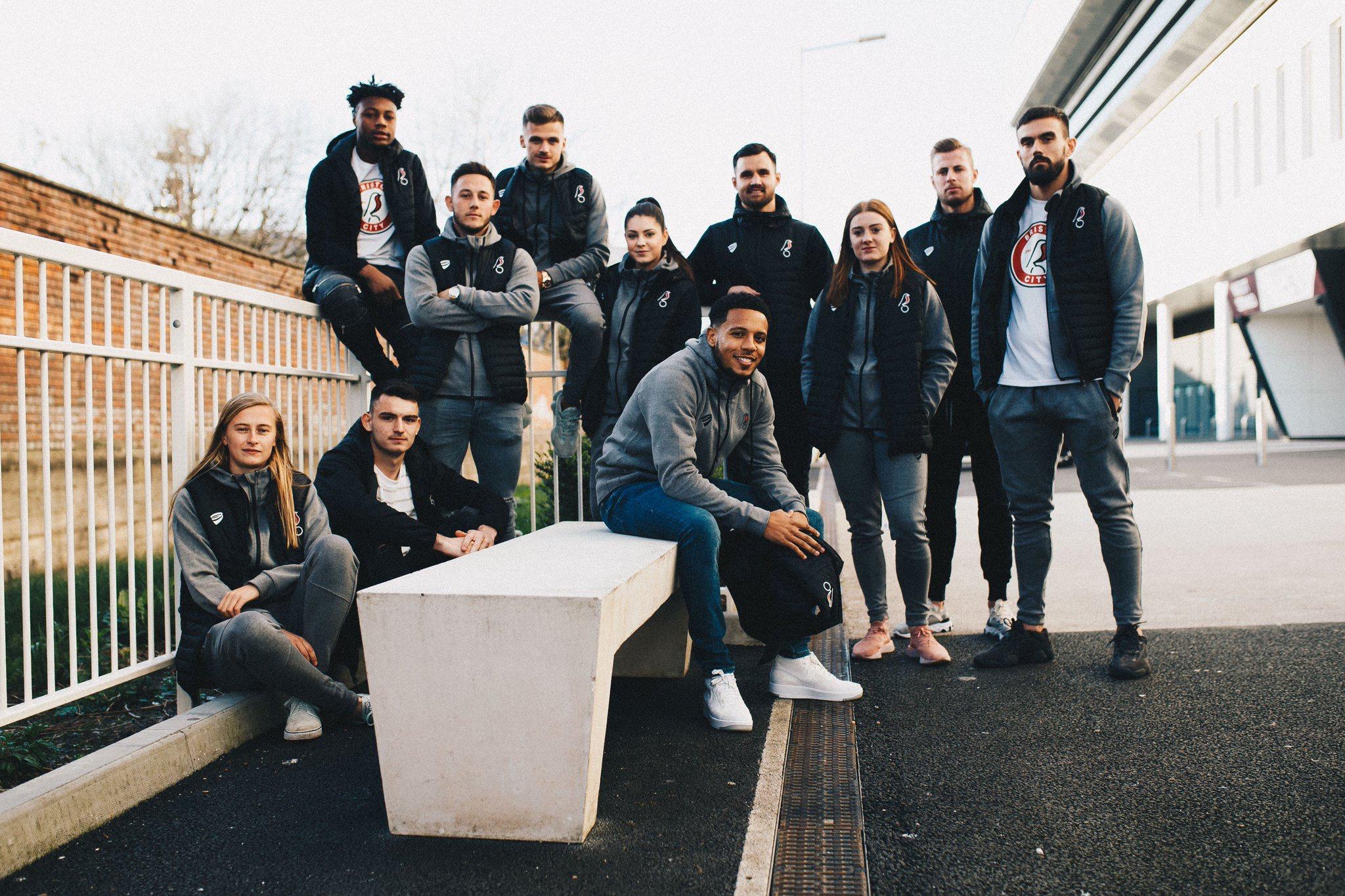 Bristol City Men's and Women's side unveil their new sportswear range.