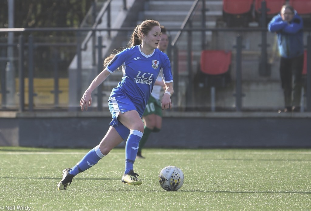 Chloe Lloyd in action for Cardiff City Ladies.