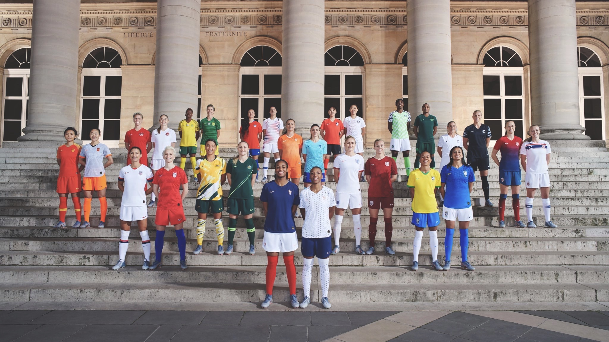 Nike's 2019 football kits to debut on national teams this month. Photo Elaine Constantine