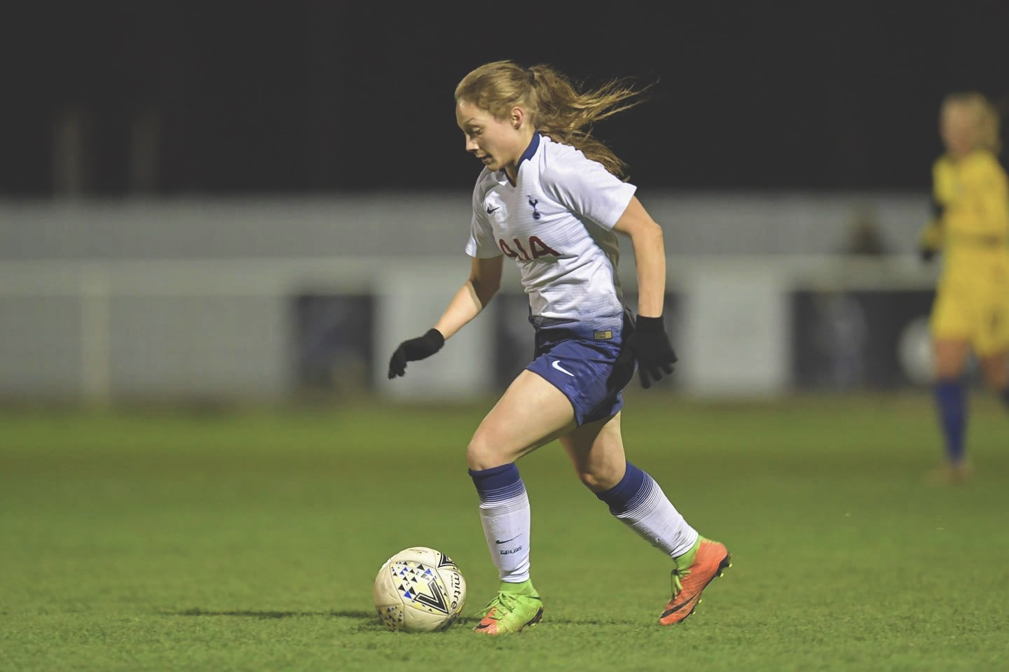 Angela Addison in action for Spurs. Photo from @THLFCofficial