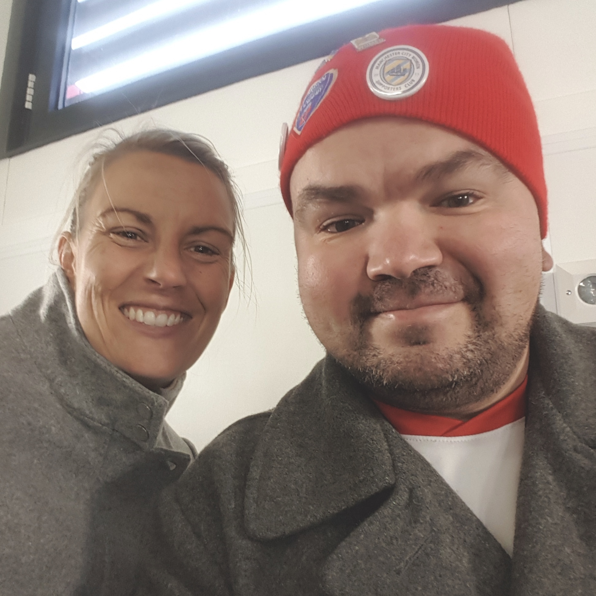 Richard Paish with Bristol City Ladies manager, Tanya Oxtoby