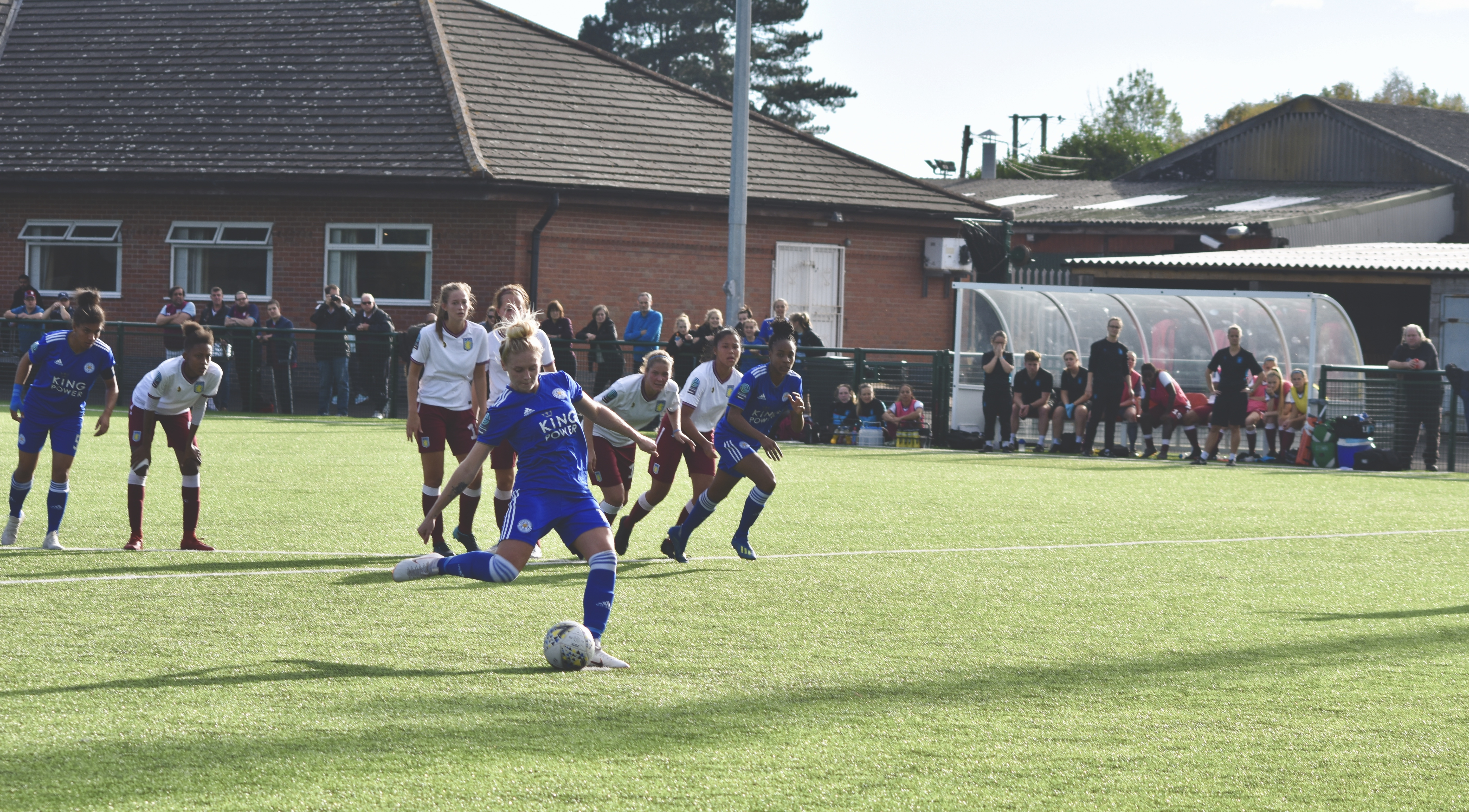 Rosie Axten provided an outlet on the wings for the Foxes and was on hand to calmly slot home from the penalty spot to net her fourth goal in the past three games.