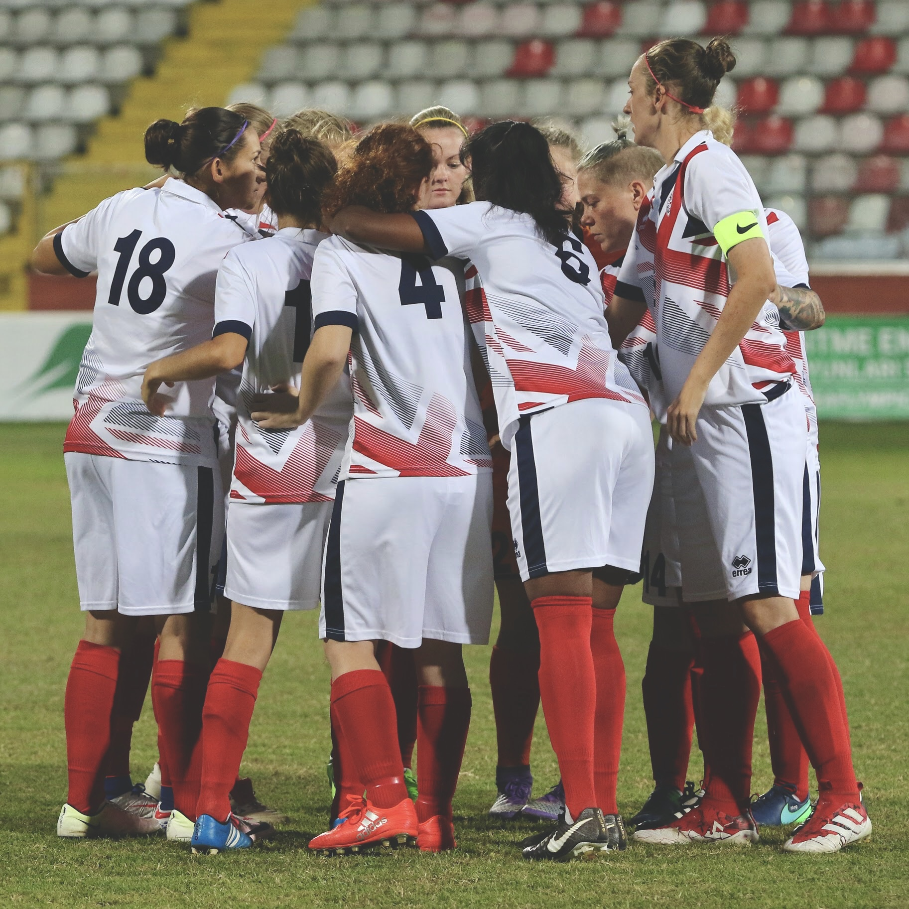 Great Britain's Deaf Women's football team