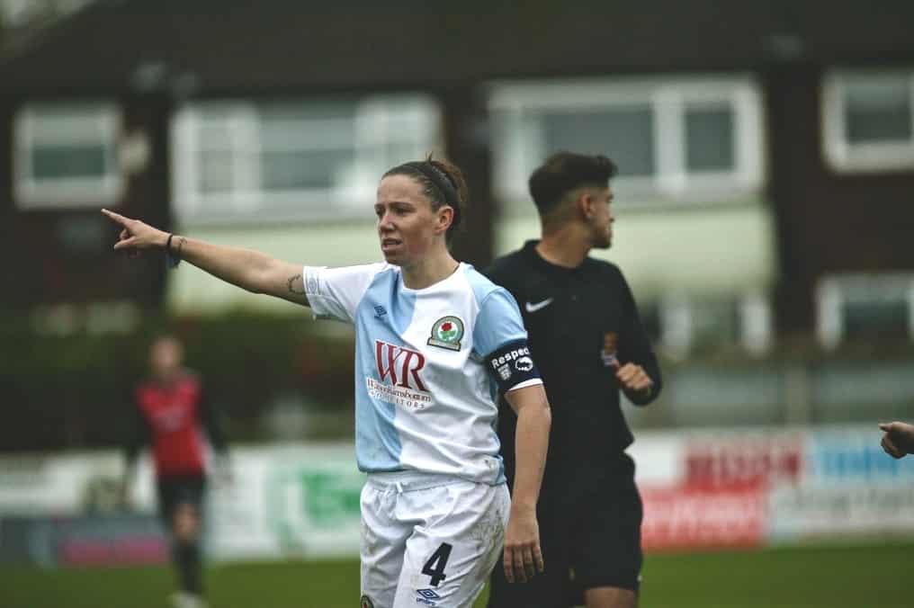 Blackburn Rovers captain Lynda Shepherd