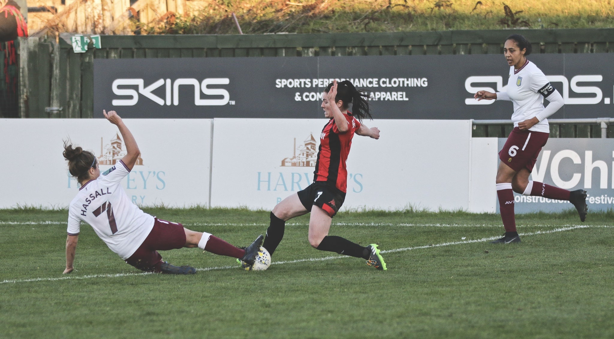 Lewes FC Women 1-1 Aston Villa Ladies. Photo by James Boyes