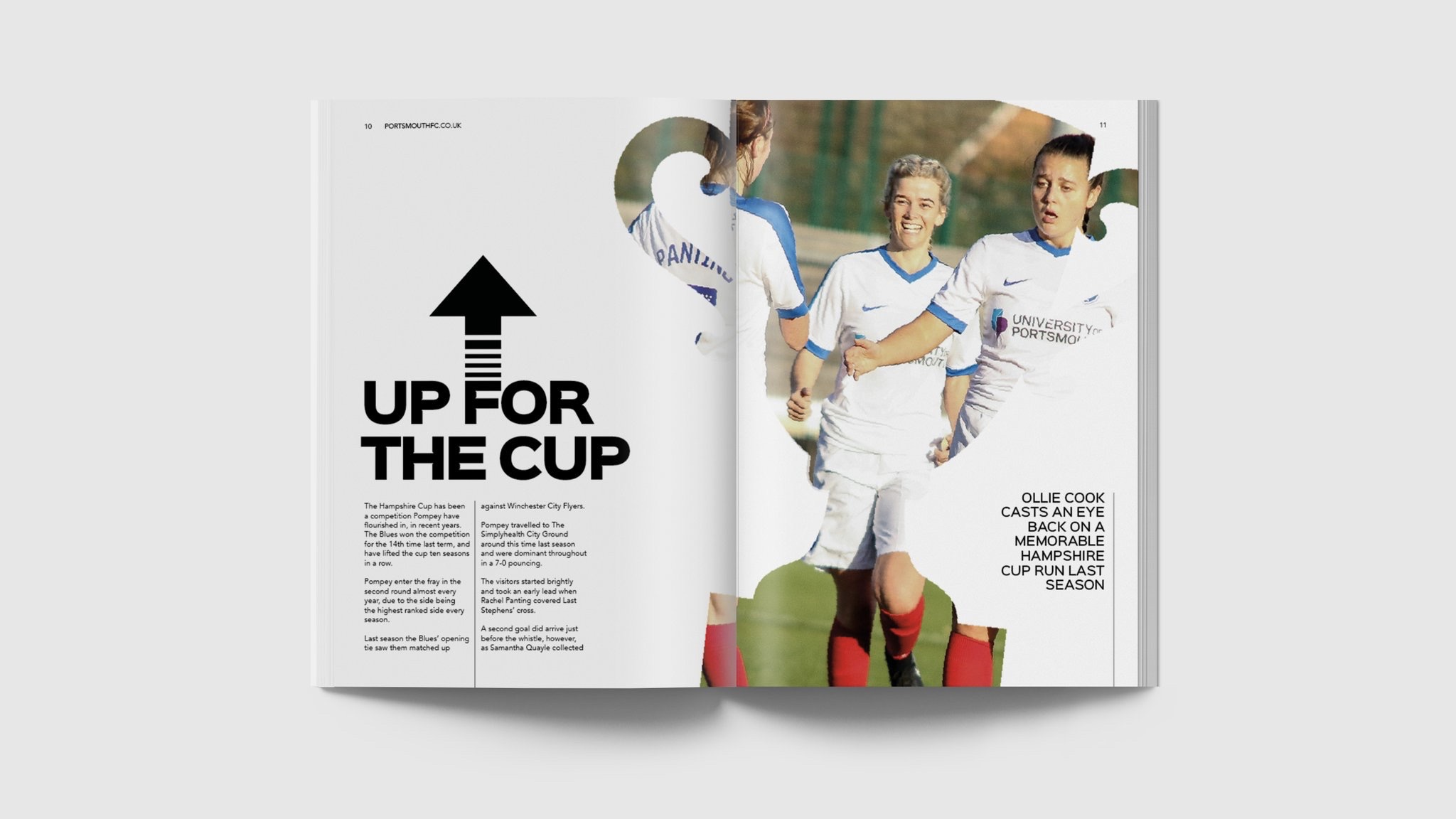 Portsmouth FC Women's programme feature.