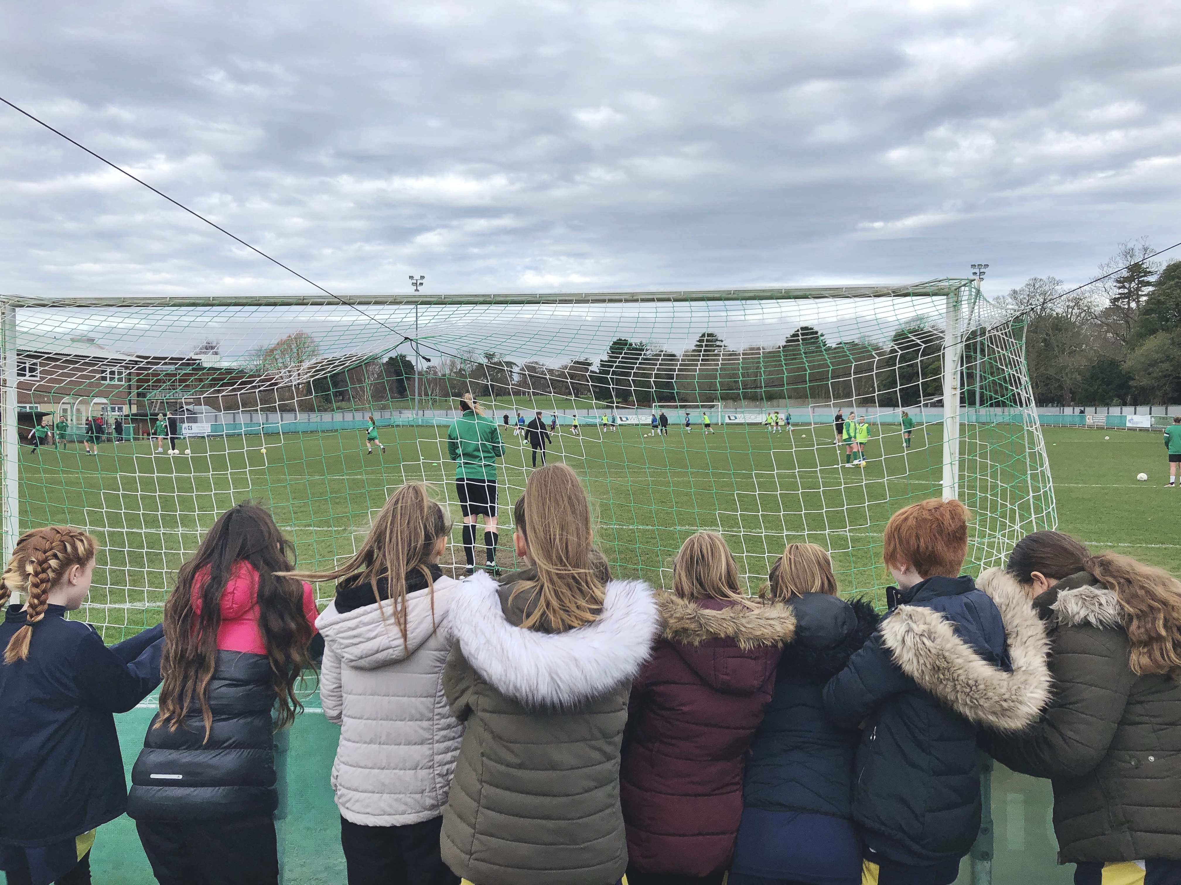 Havant & Waterlooville Girls watch as Chichester City prepare to take on Coventry United.