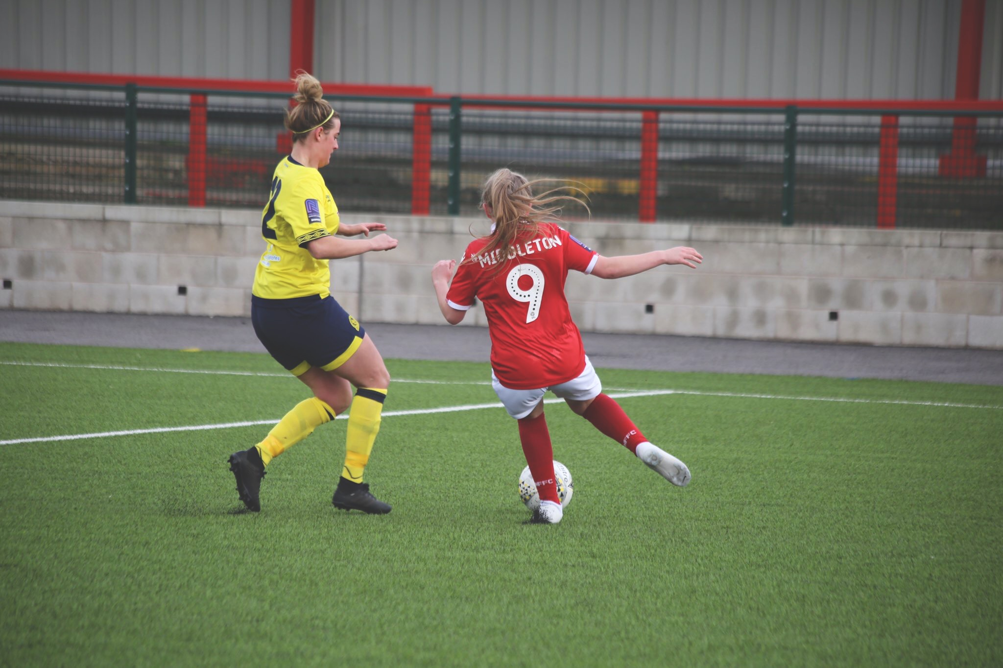 Forest's Middleton takes on the Rovers defence.