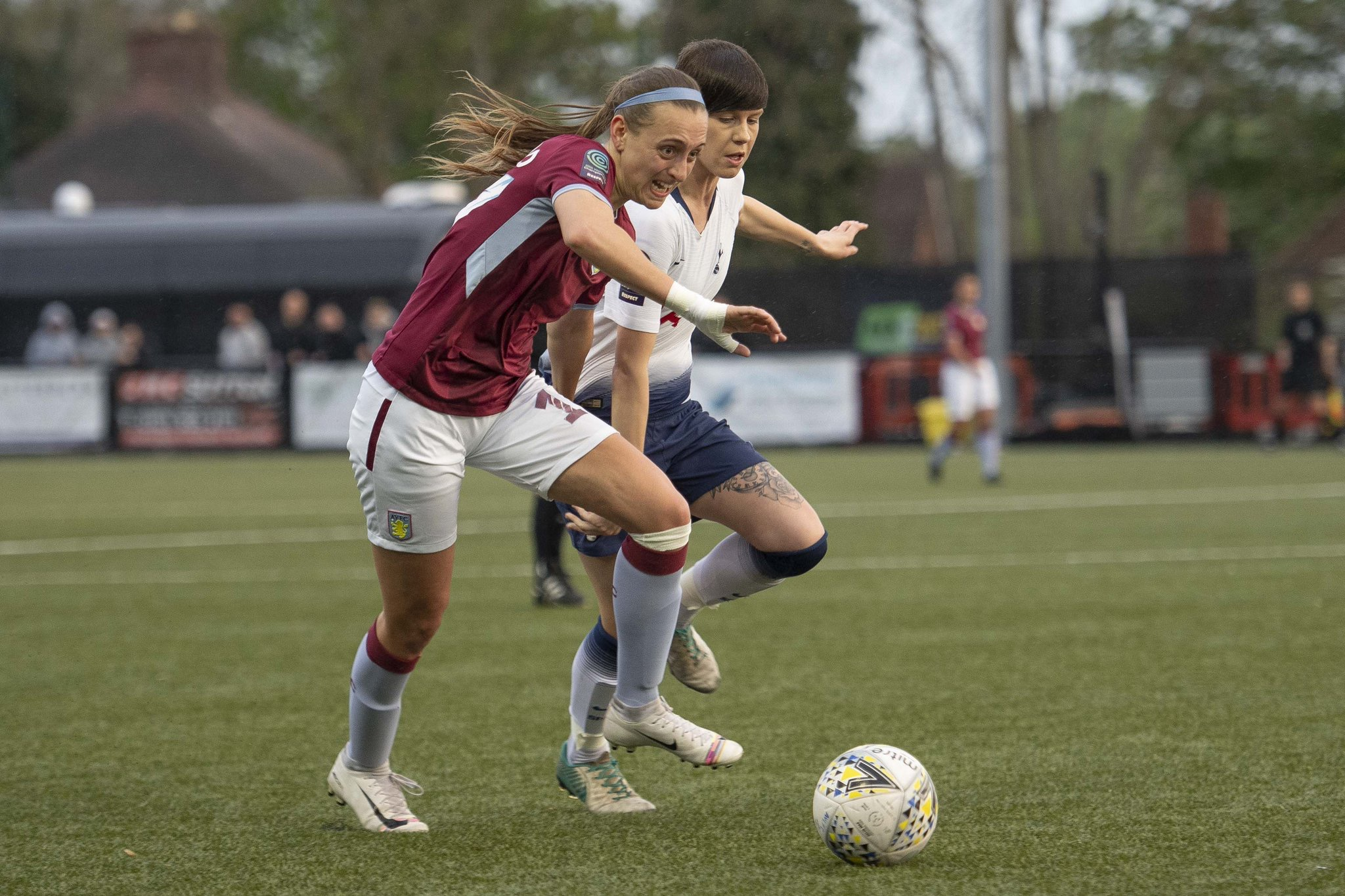 Villa taking on Spurs. Photo from @AVLFCOfficial