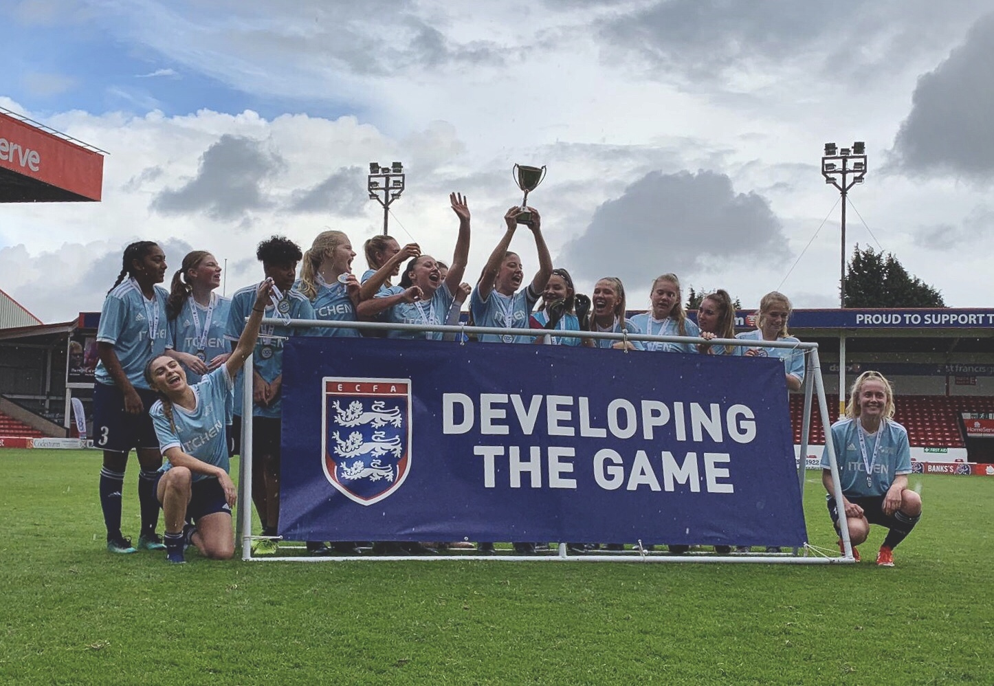 England Colleges Cup Final winners, Itchen College.