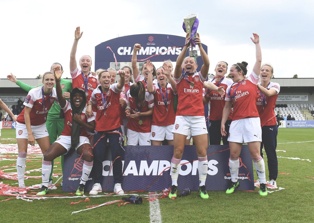 WSL Champions, Arsenal Women. Photo from Facebook
