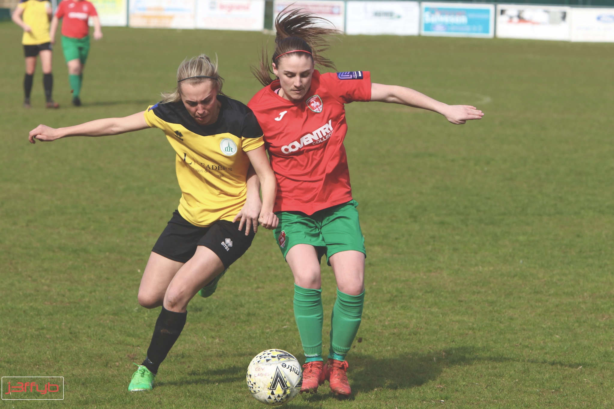 Hughes competes with Chichester's Tash Stephens. Photo by @j3ffyb